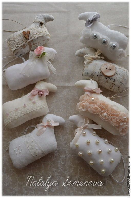 Sheep vintage shabby chic symbol of the year toys for Christmas tree Easter sheep, Christmas decorations, Yaroslavl,  Фото №1