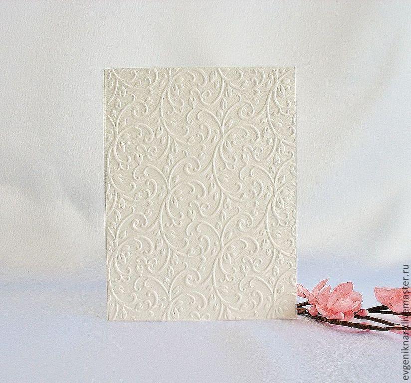 Певцами, белый дизайнерский картон для открыток