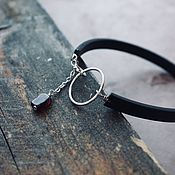 Украшения handmade. Livemaster - original item Bracelet made of silver and genuine leather. Handmade.