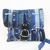 Сумки и аксессуары handmade. Livemaster - original item Denim bag Denim youth bag Denim fashion. Handmade.