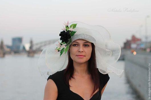 """Шляпы ручной работы. Ярмарка Мастеров - ручная работа. Купить Эксклюзивная шляпка """"L'Enigme de l'ete"""" (Загадка лета). Handmade."""