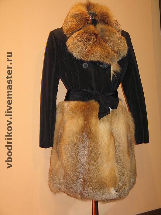 Верхняя одежда ручной работы. Ярмарка Мастеров - ручная работа. Купить пальто LORENZO. Handmade. Пальто мех лиса