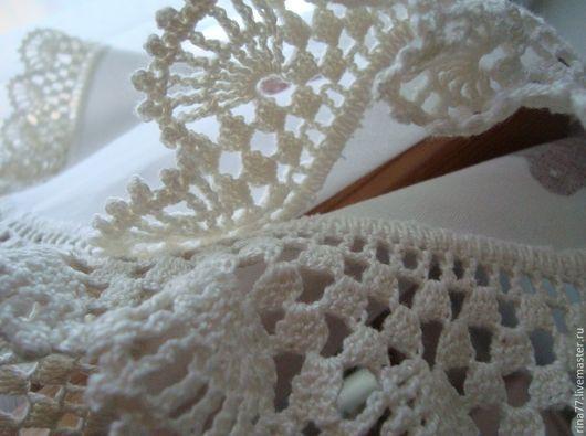 Текстиль, ковры ручной работы. Ярмарка Мастеров - ручная работа. Купить Текстильная салфетка с ручным кружевом. Handmade. Белый, для дачи