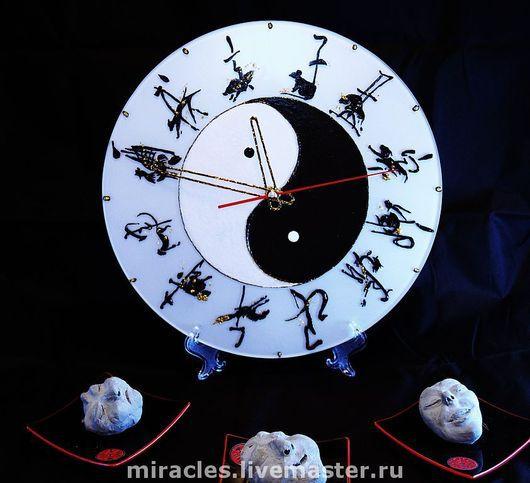 """Часы для дома ручной работы. Ярмарка Мастеров - ручная работа. Купить Часы """"Мироздание"""".. Handmade. Часы, знаки зодиака, животные"""