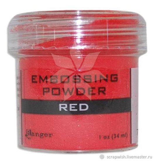 В наличии! Пудра для эмбоссинга от Ranger - Red - Красный, Эмбоссинг, Зеленоград,  Фото №1