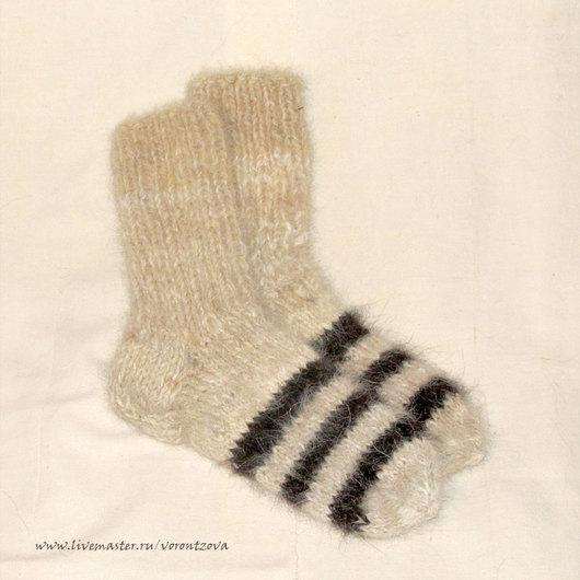 Носки из собачьей шерсти.