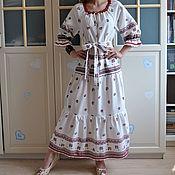 Одежда handmade. Livemaster - original item Long dress in boho style