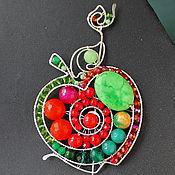 Украшения handmade. Livemaster - original item Brooch Apple Red-Side (option). Handmade.