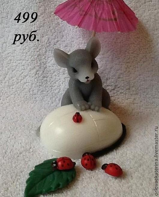 Материалы для косметики ручной работы. Ярмарка Мастеров - ручная работа. Купить Силиконовая форма мышка. Handmade. Бледно-розовый