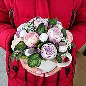Цветы и флористика handmade. Livemaster - original item BOUQUETS: Bouquet of peonies from a bar of soap. Handmade.