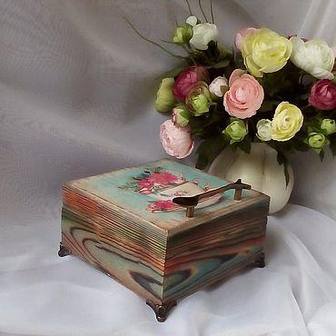 Для дома и интерьера ручной работы. Ярмарка Мастеров - ручная работа Шкатулка чайная. Handmade.