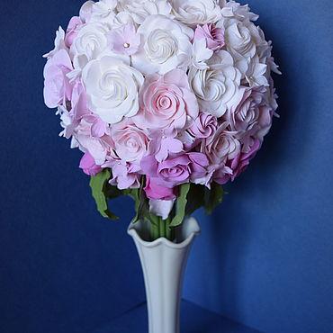 Свадебный салон ручной работы. Ярмарка Мастеров - ручная работа Букет невесты. Розы и стефанотис.. Handmade.
