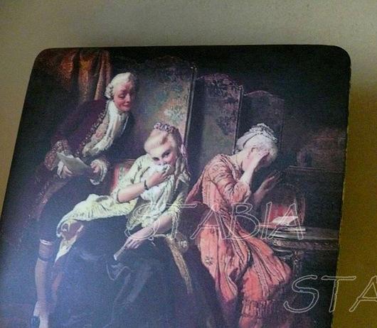 """Шкатулки ручной работы. Ярмарка Мастеров - ручная работа. Купить Шкатулка """" Шалуны"""". Handmade. Синий, 18 век, кавалер"""