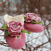 """Обувь ручной работы. Ярмарка Мастеров - ручная работа """"НЕЖНОСТЬ""""  валяные тапочки (вариации). Handmade."""