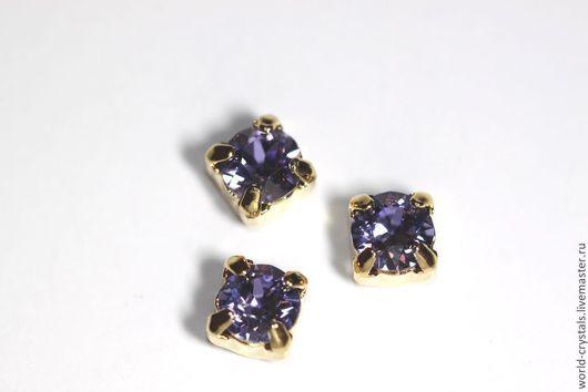 Кристаллы № 539 TANZANITE.  Ювелирные касты под золото.