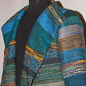 Одежда ручной работы. Ярмарка Мастеров - ручная работа Кардиган из тканого полотна Колхида. Handmade.