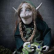"""Куклы и игрушки ручной работы. Ярмарка Мастеров - ручная работа """"Влюбленная и печальная троллиха"""" - текстильная кукла. Handmade."""