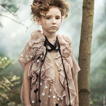 Работы для детей, ручной работы. Ярмарка Мастеров - ручная работа Дизайнерское платье для девочки. Handmade.
