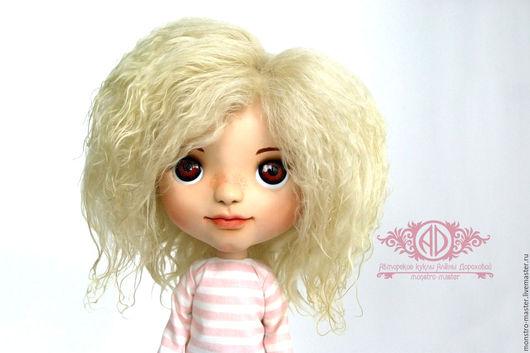 Портретные куклы ручной работы. Ярмарка Мастеров - ручная работа. Купить Портретная кукла. Энджи.. Handmade. Розовый, белый, проволока