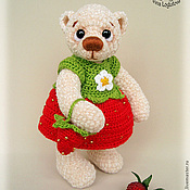 Куклы и игрушки ручной работы. Ярмарка Мастеров - ручная работа Мишка Ягодка. Handmade.
