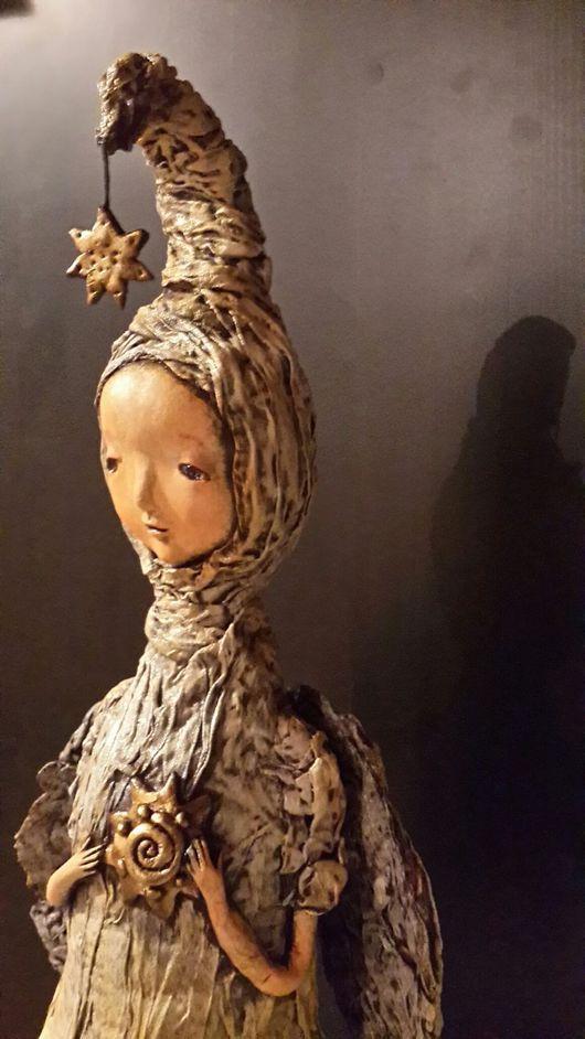 Коллекционные куклы ручной работы. Ярмарка Мастеров - ручная работа. Купить Ангел и Звезда. Handmade. Комбинированный, необычный ангел, дерево