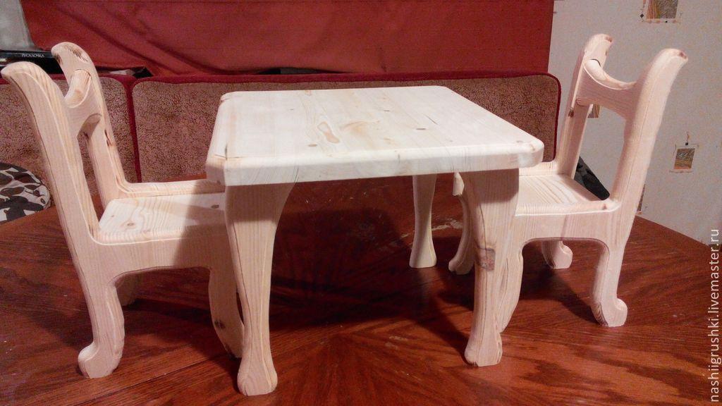 Как сделать стол и стул для кукол71