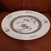 Винтаж handmade. Livemaster - original item Wedgwood-Wedgwood-Dish-Hummingbird34 cm. Porcelain.. Handmade.