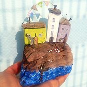 Для дома и интерьера handmade. Livemaster - original item Driftwood cottages Village Provence mini. Handmade.