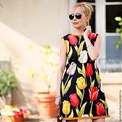 Одежда ручной работы. Ярмарка Мастеров - ручная работа Платье Tulip Хлопок 100%. Handmade.