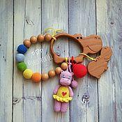 Куклы и игрушки ручной работы. Ярмарка Мастеров - ручная работа Грызунок с бегемотиками. Handmade.