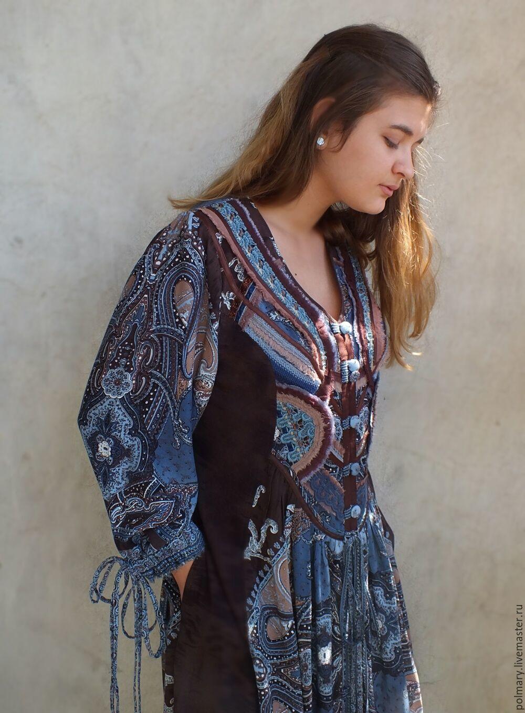 9de8a57afe4 Boho dress-chocolate-blue