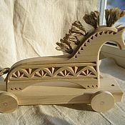 Игрушки-каталки ручной работы. Ярмарка Мастеров - ручная работа лошадка-каталка-3. Handmade.