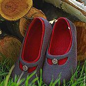 """Обувь ручной работы. Ярмарка Мастеров - ручная работа """"Загадка для Веры - 2"""" валяные тапочки-балетки. Handmade."""