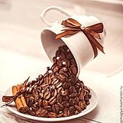 Цветы и флористика ручной работы. Ярмарка Мастеров - ручная работа Парящая чашка кофе. Handmade.