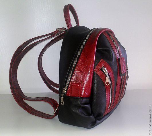 Рюкзаки ручной работы. Ярмарка Мастеров - ручная работа. Купить Рюкзак кожаный городской 6. Handmade. Разноцветный, рюкзак городской