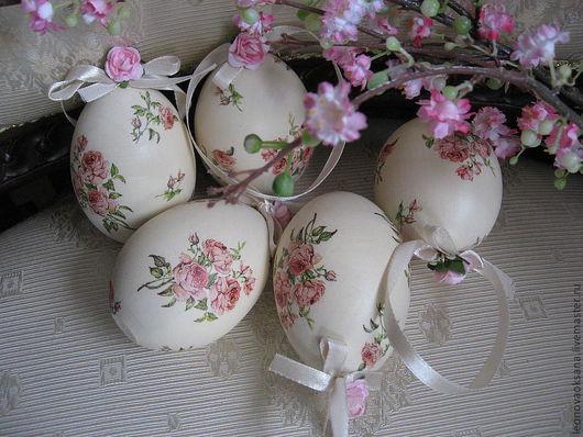 """Подарки на Пасху ручной работы. Ярмарка Мастеров - ручная работа. Купить Пасхальные яйца """"Английские розочки"""". Handmade. Розовый, Пасха"""