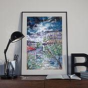 """Картины и панно ручной работы. Ярмарка Мастеров - ручная работа """"Sudden thunderstorm"""". Handmade."""