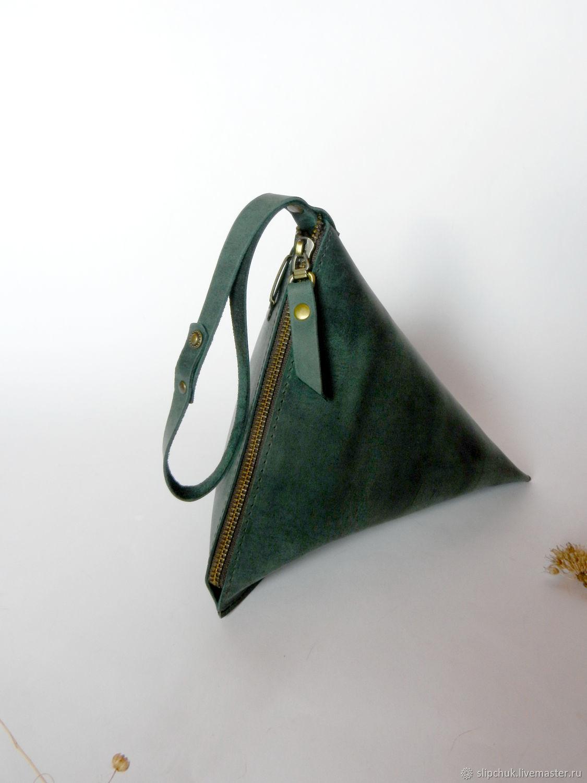 0178898cca14 Женские сумки ручной работы. Заказать Кожаная сумка-клатч «Пирамида», бесплатная  доставка ...