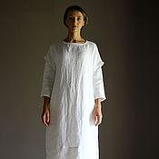 Одежда ручной работы. Ярмарка Мастеров - ручная работа Верхнее платье-накидка из льна TAMY. Handmade.