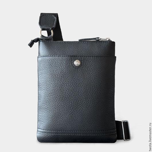 """Мужские сумки ручной работы. Ярмарка Мастеров - ручная работа. Купить Сумка """"Jack's Bag mini"""". Handmade. Сумка, черный"""