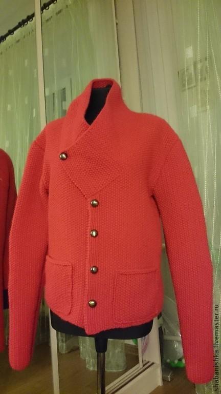 Пиджаки, жакеты ручной работы. Ярмарка Мастеров - ручная работа. Купить Жакет мужской. Handmade. Однотонный, жакет на пуговицах, вязание