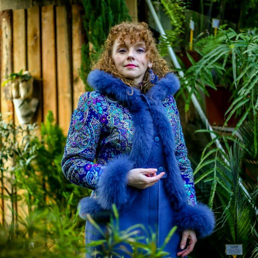 """Верхняя одежда ручной работы. Ярмарка Мастеров - ручная работа. Купить Зимнее пальто """"Синяя птица"""". Handmade. Пальто"""