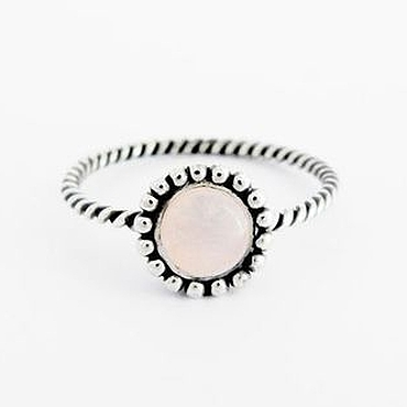 Украшения ручной работы. Ярмарка Мастеров - ручная работа Кольцо с розовым кварцем, серебро 925 пробы. Handmade.