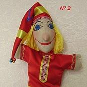 Куклы и игрушки ручной работы. Ярмарка Мастеров - ручная работа Петрушка - перчаточная кукла для домашнего театра. Handmade.