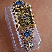 """Украшения ручной работы. Ярмарка Мастеров - ручная работа Часы-скелетоны наручные """"Gold Bird"""". Handmade."""