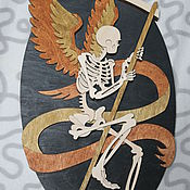 Картины и панно ручной работы. Ярмарка Мастеров - ручная работа Панно Ангел смерти. Handmade.