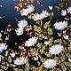 """Картины цветов ручной работы. Ярмарка Мастеров - ручная работа. Купить Вышитая картина """"Ночь нежна"""". Handmade. Вышивка ручная"""