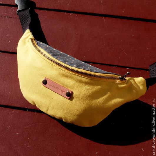 """Женские сумки ручной работы. Ярмарка Мастеров - ручная работа. Купить Сумка """" лимончик"""". Handmade. Желтый, сумка из ткани"""