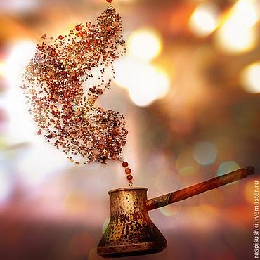 Украшения ручной работы. Ярмарка Мастеров - ручная работа Воздушное колье Кофейный аромат. Handmade.