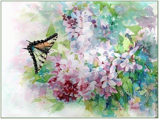 Картины цветов ручной работы. Ярмарка Мастеров - ручная работа. Купить Махаон. Handmade. Разноцветный, бабочка, подарок